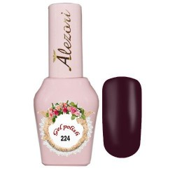 Ημιμόνιμο βερνίκι Alezori Gel polish №224 Μωβ Μεταλλιζέ 15ml