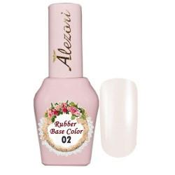 Ημιμόνιμο Βερνίκι Alezori Rubber Base Uv/Led color 02 milky pink 15ml