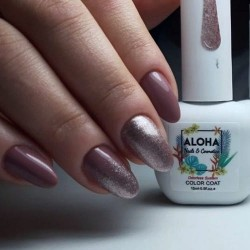 ALOHA FR 185 STAR SHINE GLITTER PEWTER GLITTER WITH SILVER PAILLETE 15ml
