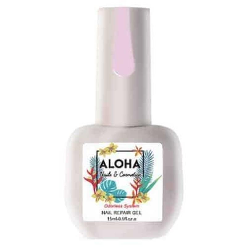 Θεραπεία Ημιμόνιμου Με Πρωτεΐνες & Χρώμα Aloha Nail Repair Gel Light Pink 15ml