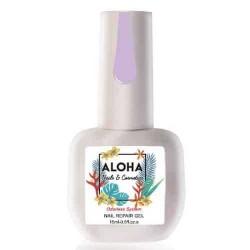 Θεραπεία Ημιμόνιμου Με Πρωτεΐνες & Χρώμα Aloha Nail Repair Gel Milky Lilac 15ml