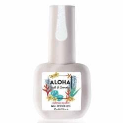 Θεραπεία Ημιμόνιμου Με Πρωτεΐνες & Χρώμα Aloha Nail Repair Gel Sparkling Milky White 15ml