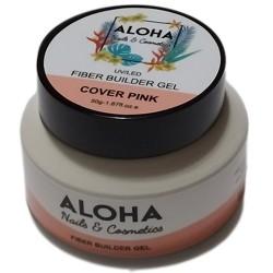 Gel Xτισίματος Aloha Fiber Builder Gel Cover Pink (Ροζ Καμουφλάζ) 50gr