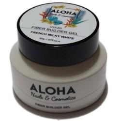 Gel Xτισίματος Aloha Fiber Builder Gel Milky White (Γαλακτερό Γαλλικού) 50gr