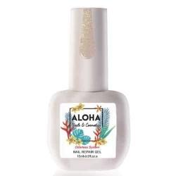 Θεραπεία Ημιμόνιμου Με Πρωτεΐνες & Χρώμα Aloha Nail Repair Gel Sparkling Nude 15ml