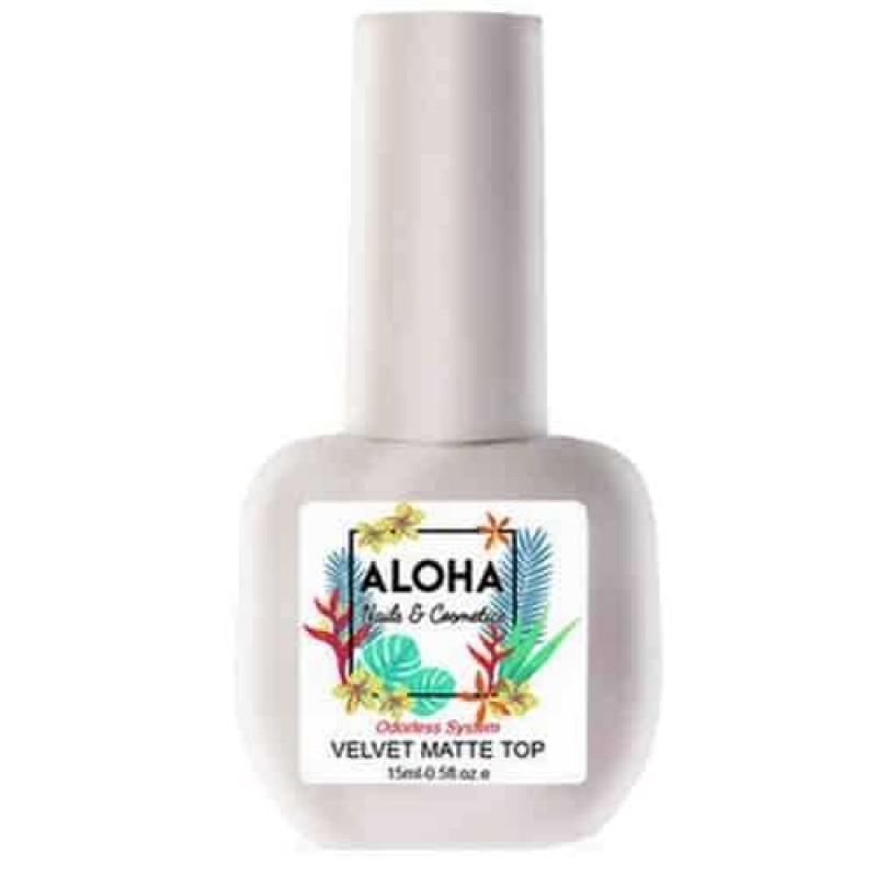 Ημιμόνιμο Βερνίκι Velvet Matte Top Coat Aloha 15ml