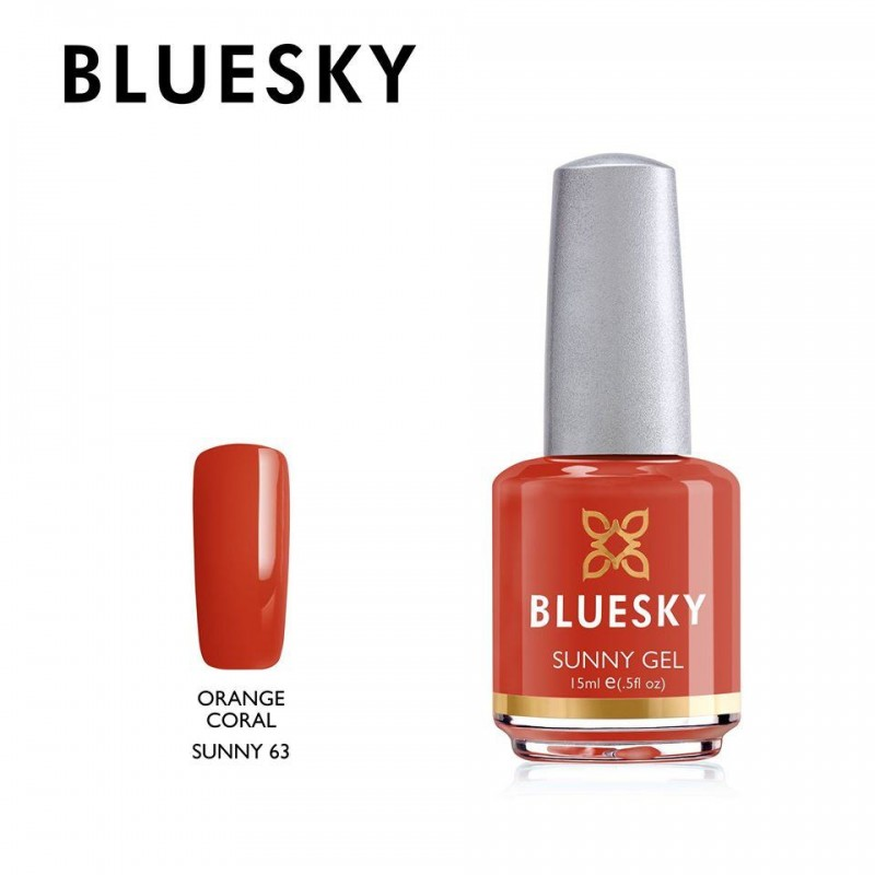 BLUESKY SUNNY GEL 63 ORANGE CORAL 15ml