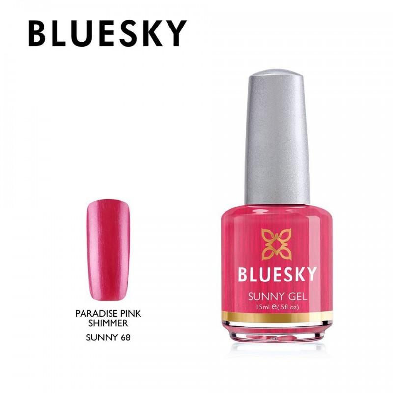 BLUESKY SUNNY GEL 68 PARADISE PINK SHIMMER 15ml