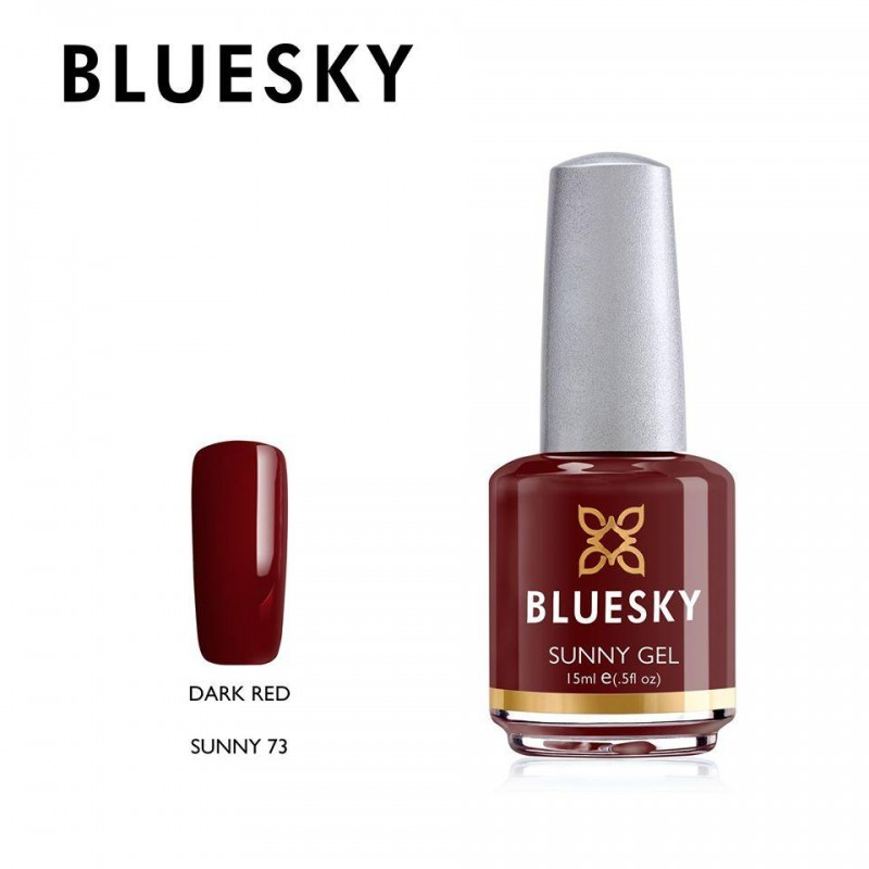 BLUESKY SUNNY GEL 73 DARK RED 15ml