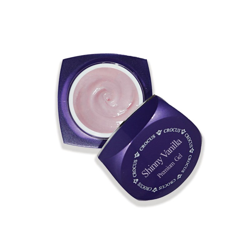 Crocus Premium Nail Color Gel Shinny Vanilla 50gr