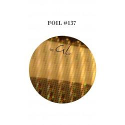 GEL IT UP FOIL 137 GOLD RAINBOW DOT