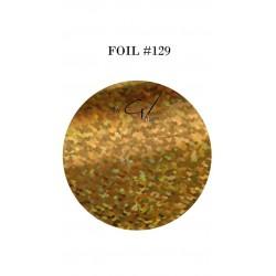 GEL IT UP FOIL 129 GOLD RAINBOW CUBES