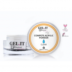 GEL IT UP COMPETE ACRYLIC POWDER ΔΙΑΦΑΝΗΣ 20gr