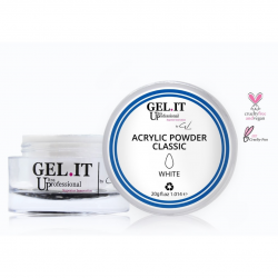 GEL IT UP CLASSIC ACRYLIC POWDER ΛΕΥΚΗ 20gr
