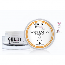 GEL IT UP COMPETE ACRYLIC POWDER ΛΕΥΚΗ 20gr