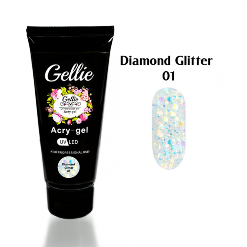 GELLIE ACRYGEL DIAMOND GLITTER 01 30ml