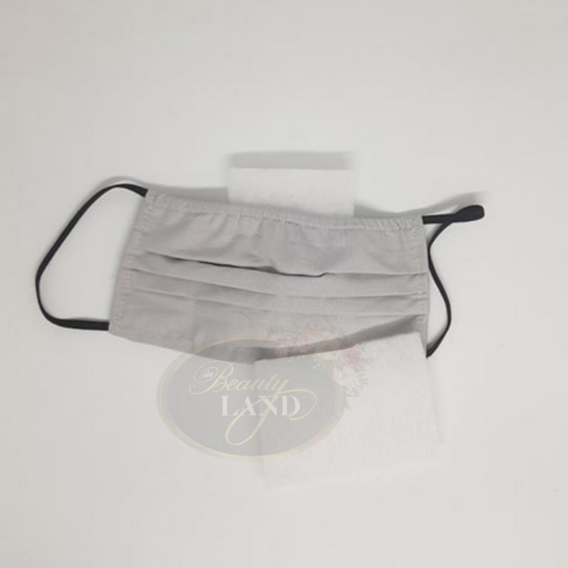Μάσκα Πολλαπλών Χρήσεων Βαμβακερή 100% Με 1 Φίλτρο G4 Γκρι