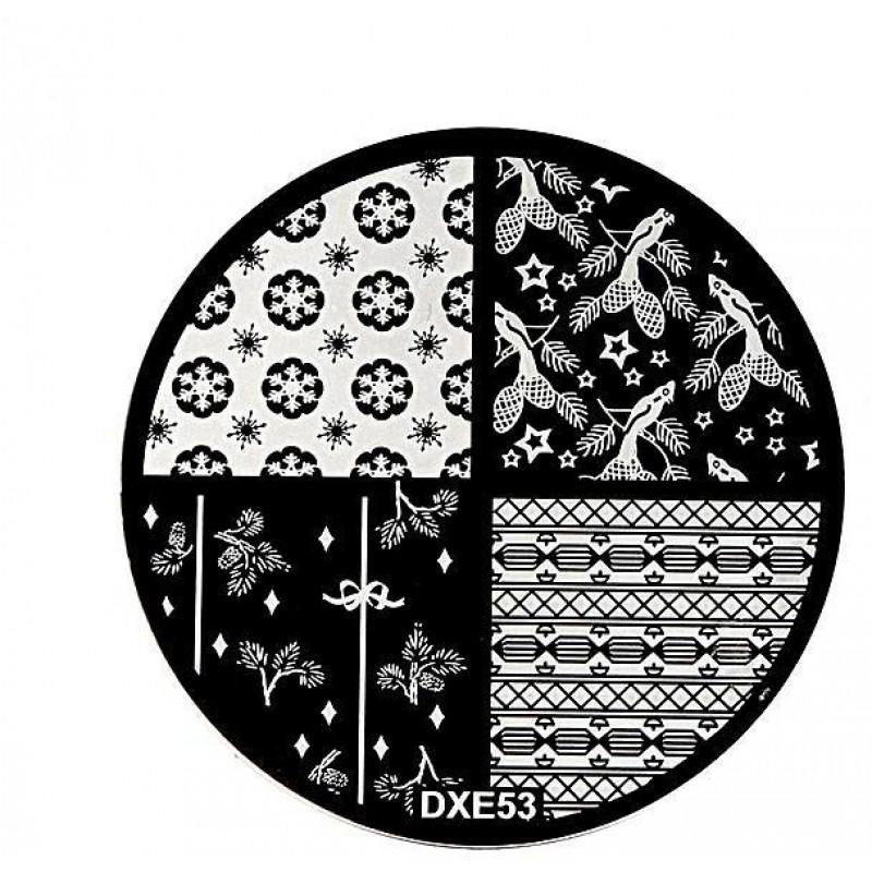 Stamping Plate Για Σχέδια Nail Art MAN DXE53