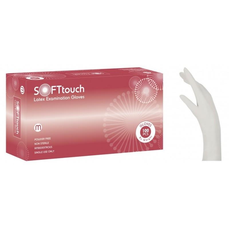 Sof Γάντια Latex Λευκά Χωρίς Πούδρα 100 τμχ. (110.202)