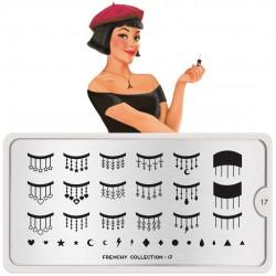 Stamping Plate Για Σχέδια Nail Art MoYou Plate Frenchy 17