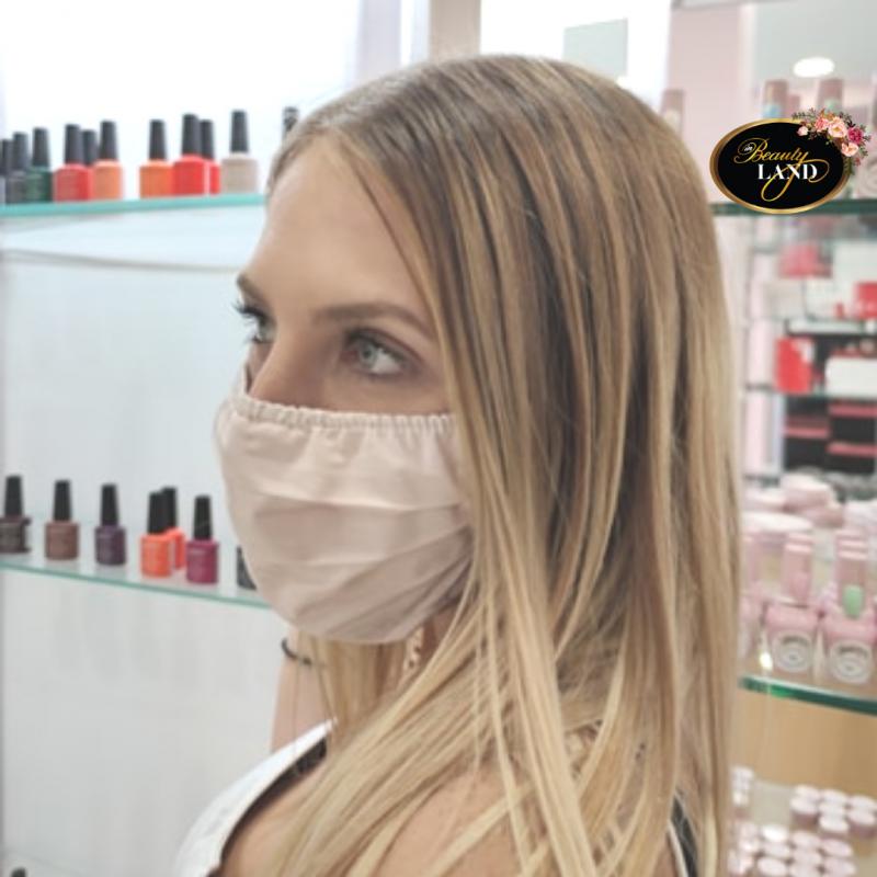 Μάσκα Πολλαπλών Χρήσεων Βαμβακερή 100% Ροζ