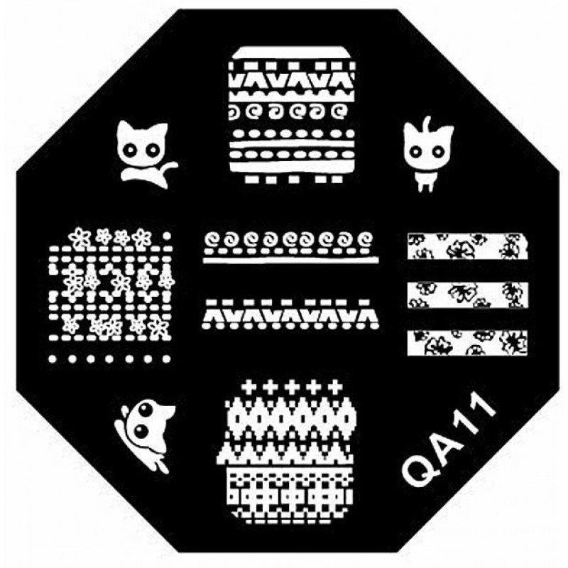 Stamping Plate Για Σχέδια Nail Art MAN QA11