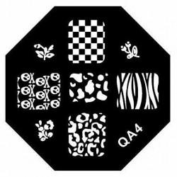 Stamping Plate Για Σχέδια Nail Art MAN QA4