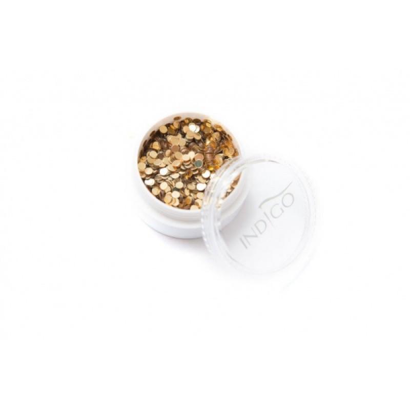 INDIGO DOTS GOLD 2mm