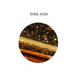 GEL IT UP FOIL 120 GOLD RAINBOW STAR