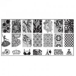 Stamping Plate Για Σχέδια Nail Art J.K BC 05 (100651)
