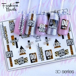 J.K FASHION NAILS 3D SLIDER 078 (114107)