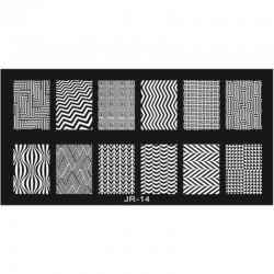 Stamping Plate Για Σχέδια Nail Art J.K JR 14 (100877)