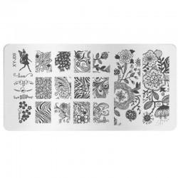 Stamping Plate Για Σχέδια Nail Art J.K XYJ 09 (100707)