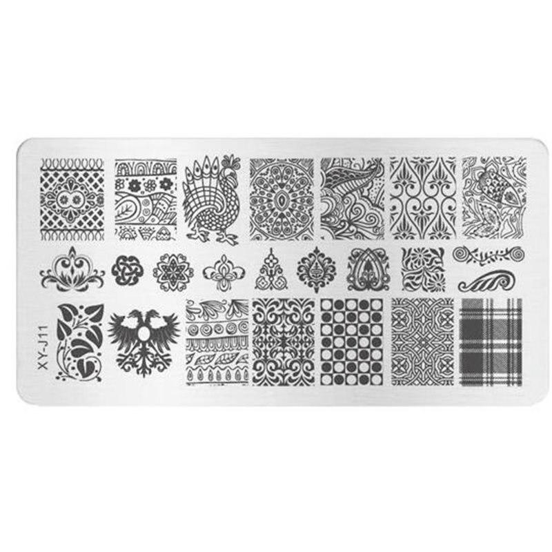 Stamping Plate Για Σχέδια Nail Art J.K XYJ 11 (100709)