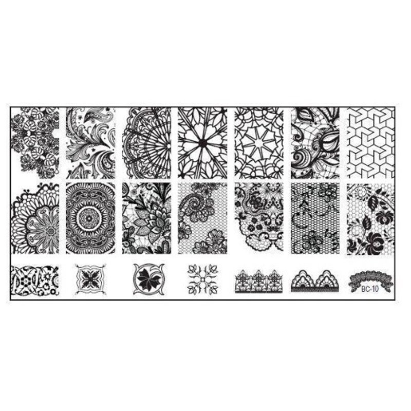 Stamping Plate Για Σχέδια Nail Art J.K BC 10 (100656)