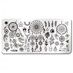 Stamping Plate Για Σχέδια Nail Art J.K BP-L 100