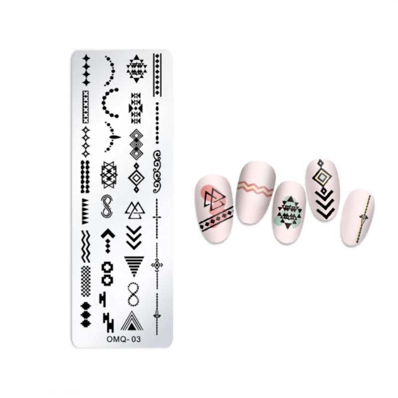 Stamping Plate Για Σχέδια Nail Art J.K OMQ 03 (101160)