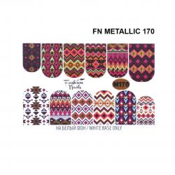 Αυτοκόλλητα Νερού Νυχιών J.K FΝ Metallic 170 (113578)