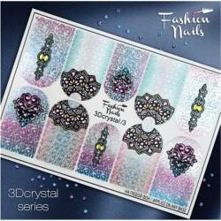 Αυτοκόλλητα Νυχιών J.K Fashion Nails Crystal 3D Slider 03 (113862)