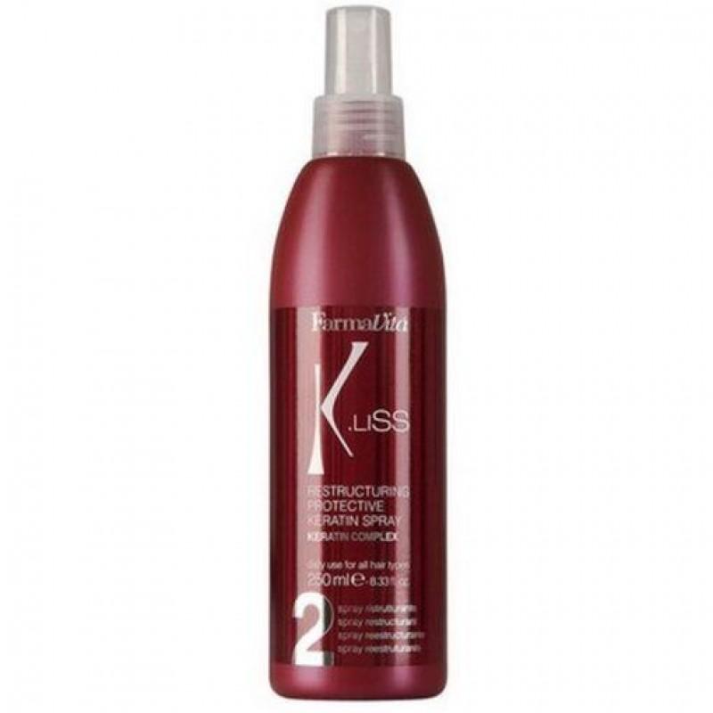 Spray Αναδόμησης Μαλλιών K.Liss Restructuring Protective Keratin Spray 250ml