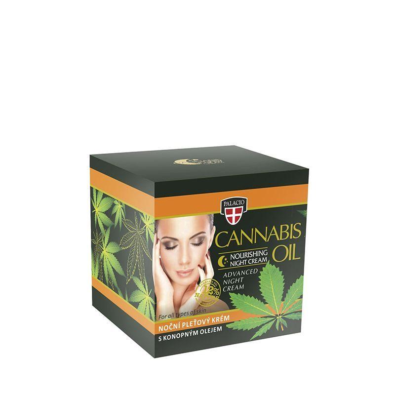 Κρέμα Προσώπου Νύχτας Για Όλους Τους Τύπους Δέρματος Palacio Cannabis Night Face Cream 12% 50ml