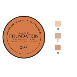 QUIZ FOUNDATION COMPACT CREAM TO POWDER