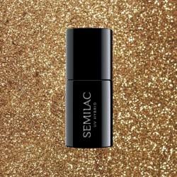 Ημιμόνιμο Bερνίκι Semilac 339 Gold Glitter 7ml