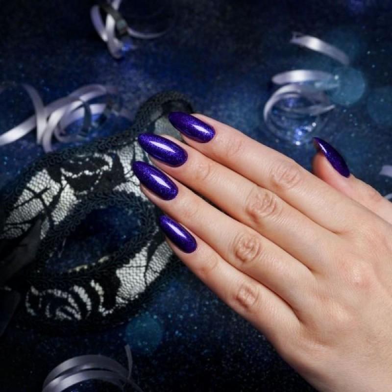 Ημιμόνιμο Bερνίκι Νυχιών - Μανό Semilac Shimmer  342 Navy Blue 7ml