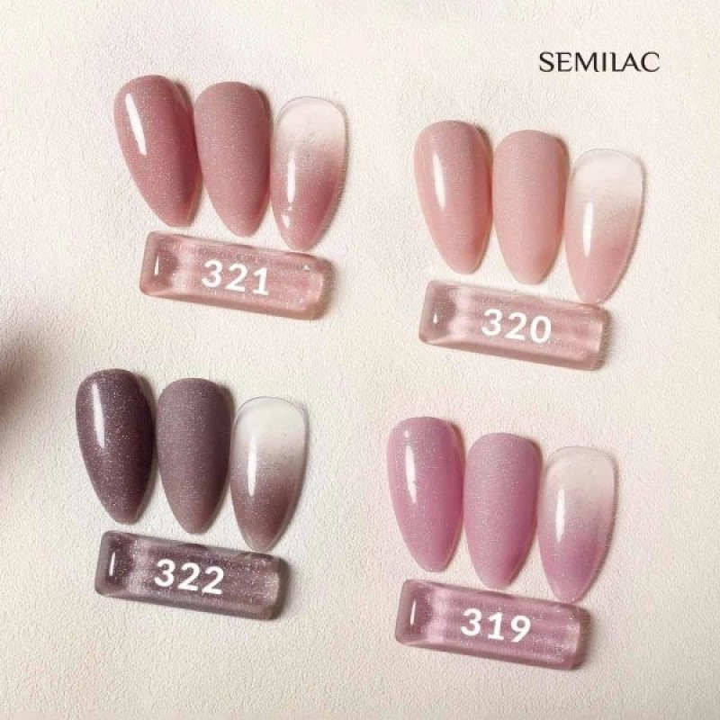 Ημιμόνιμο Bερνίκι Semilac Shimmer 322 Dust Brown 7ml