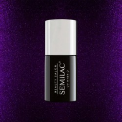 SEMILAC BEAUTY SALON H785 GLITTER DARK PURPLE 7ml