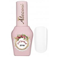 Alezori Gel polish №3710 15ml. ΛΕΥΚΟ ΜΕ ΨΙΛΟ ΣΗΙΜΜΕΡ. Ημιμόνιμο βερνίκι.