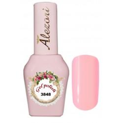 Alezori Gel polish №3848 15ml. ΓΛΥΚΟ ΡΟΖ ΜΕ ΠΟΛΥ ΨΙΛΟ SHIMMER. Ημιμόνιμο βερνίκι.