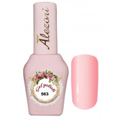Alezori Gel polish №563 15ml. ΓΛΥΚΟ ΡΟΖ ΜΕ ΨΙΛΟ SHIMMER. Ημιμόνιμο βερνίκι.