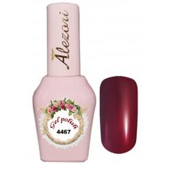 Alezori Gel polish №4467 15ml. ΜΠΟΡΝΤΟ ΜΕ ΨΙΛΟ SHIMMER. Ημιμόνιμο βερνίκι.